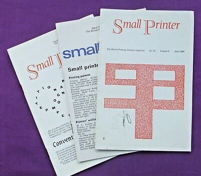 Adana Letterpress Printing BPS THREE SMALL PRINTER Magazines from April 1969