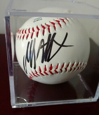 President Donald Trump Autographed Rawlings baseball in Case COA Legacy Ink