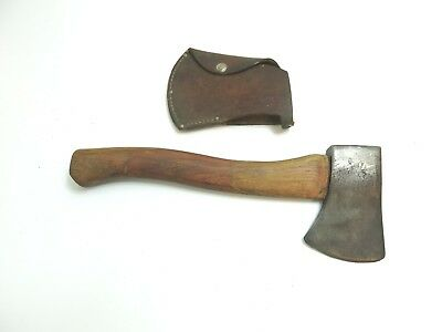 """Vintage Plumb Boy Scouts Of America Bsa Hatchet 12 1/2"""" Tall With Cover"""