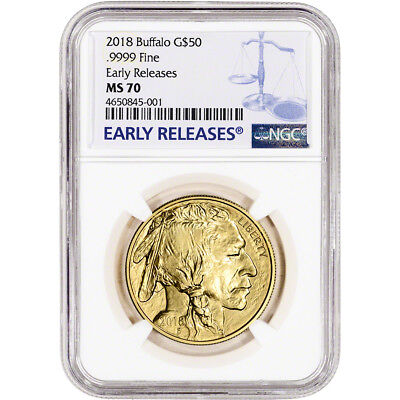 2018 American Gold Buffalo (1 oz) $50 - NGC MS70 Early Releases