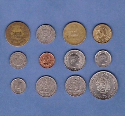 Brazil, Colombia & Venezuela  - Coin Collection Lot # A-28 - World/South America