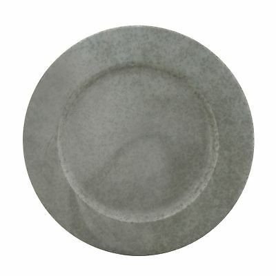 Set of 8 4 Galvanized Shabby Chic Charger Plates Metal NWT 4 Dinner