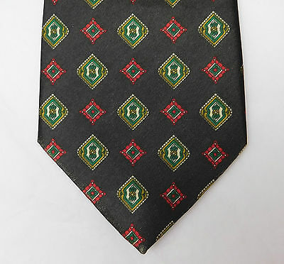 Cheap and cheerful tie Brown with squares pattern E Marco