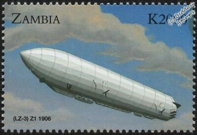 1906 Luftschiff Zeppelin LZ.3 / Z.I Imperial German Army Airship Aircraft Stamp