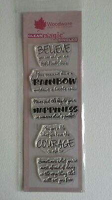 Woodware Clear Rubber Stamp Set- Phrases Words Sentiments