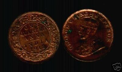 India British 1/4 Anna Km512 1918 King George V Scarce Coin Indian Money Asia