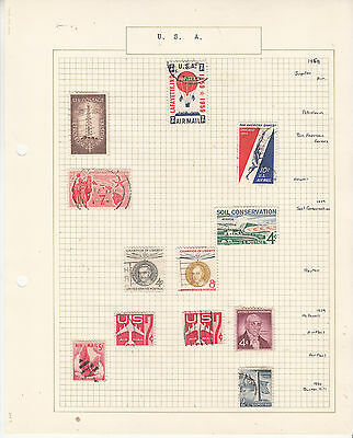 UNITED STATES Coll. On old Album Page to 1960.... U to  Removed for Shipping..