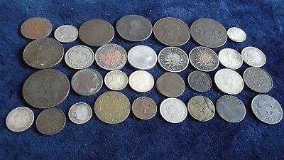 JOB LOT OF OLD COINS INCLUDING SILVER   99p  REM 13