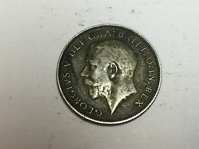 GREAT BRITAIN 1922 six pence silver coin nice condition