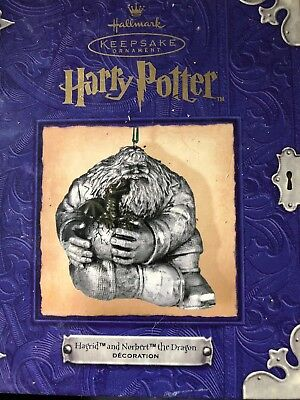 Hallmark Harry Potter Hagrid and Norbert The Dragon Pewter Keepsake Ornament
