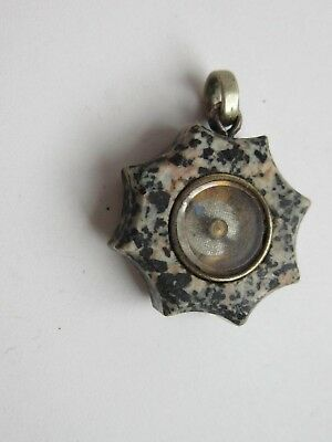 victorian scottish agate working compass fob charm