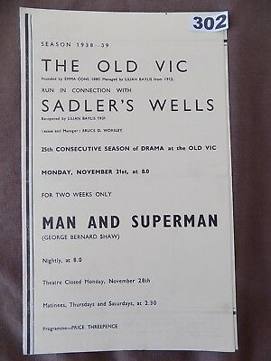 THE OLD VIC/Sadlers's Wells, MAN AND SUPERMAN, Andrew Cruickshank, A.Quayle 1938