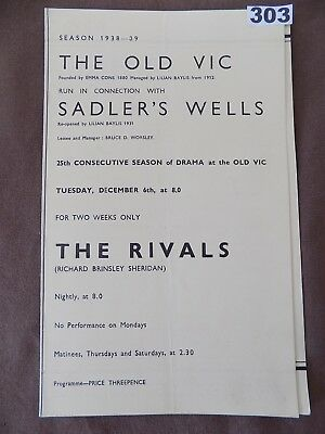 THE OLD VIC/Sadlers's Wells, THE RIVALS, Andrew Cruickshank, Anthony Quayle 1938