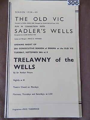 THE OLD VIC/Sadlers's Wells, TRELAWNY OF THE WELLS, Alec Guinness, J.Kidd,  1939
