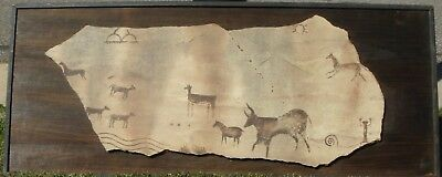 PAINTED SLAB, Indian Territory, (Oklahoma), mid-19th Century, CONTACT PERIOD