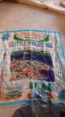 Seattle world's fair 30 by 30 scarf -no damage-1962