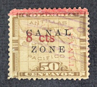 CKStamps: US Stamps Canal Zone Scott#19 Used Panama Shift, N Antique, Crease