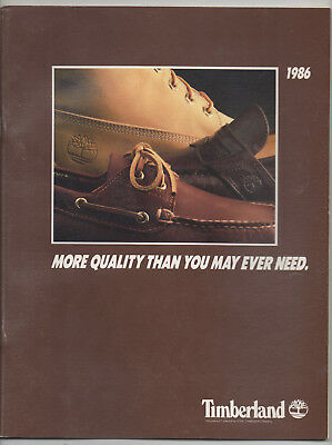 1986 Timberland catalog - shoes boots