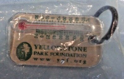 Key Chain . Yellowstone Park Foundation . W/ Mini Thermometer