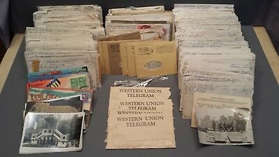 Lot Of Over 400 World War 2 Letters & etc  From  Leutenant To A Woman 1944 1945