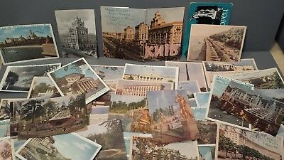 A Lot Of About 55 1950's Soviet Union Russia Postcards Moscow Kiev Unposted