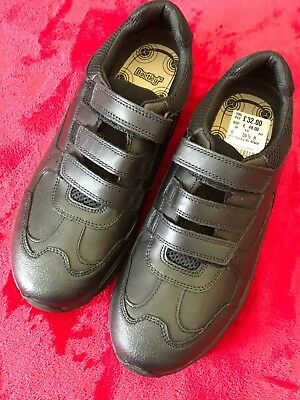 new style 0281d 75631 BNWT - Clarks Boys Black Leather School Shoes - Size 6H - RRP £48