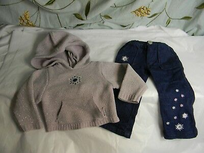 "My Twinn Dolls -23"" -snowflake hoodie and pants -read"