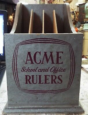 RARE vintage 1930's Acme School and Office Rulers Store Display Box