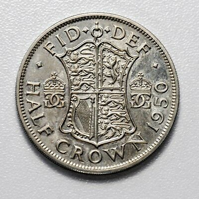 GB GEORGE VI PROOF HALF CROWN - 1950 ++ GEM PROOF!! ++ [807-10a]