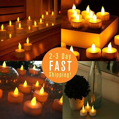 Flameless Candles battery powerd LED Tea Light Candles Decor For Parties 24 pack