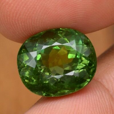 14.96ct 15x12.7mm Oval Natural Unheated Green Apatite, Brazil