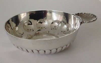 Antique silver T Fres tastevin, 1903, scallop-shell poucette, Minerve head