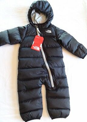 The North Face Black Lil Snuggler Down Snowsuit Bunting Boy 6-12Mo NWT $150