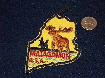VINTAGE - Boy Scout Maine High Adventure Base MATAGAMOM PATCH WITH LOOP
