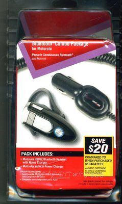Motorola bluetooth cell phone combo pack, H505z headset Home & Car Charger -NIB