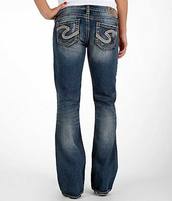 Womens Silver Jeans Mid Rise Aiko Bootcut Stretch Jean 25 26 28 29 31 32