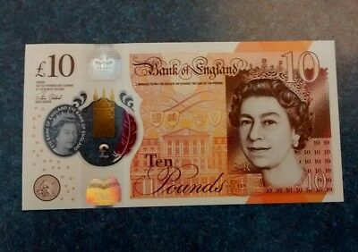 Bank Of England 10 Pounds , Unc.( new polymer)