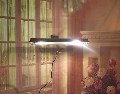 Antique Vintage  Wall  Sconce Mid Century Library Brass Shade Rewired