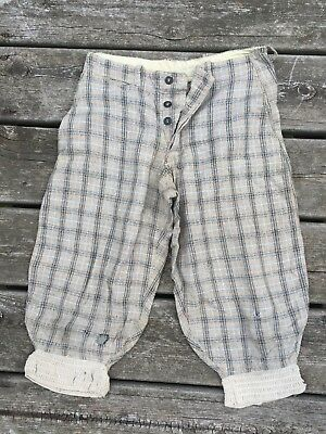 Antique 1910's Stag Brand Trousers Work Wear Knickerbockers Breeches Youths AAFA