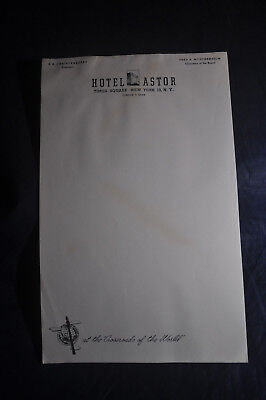 1950s Hotel Astor, Times Square, New York City Paper Pad