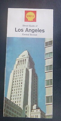 1966 Los Angeles central section street  map Chevron map gas California
