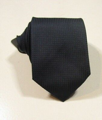 Hugo Boss Black Label Men's Dark Blue Geometric Silk Tie Made in Italy 3""