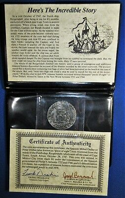 Great Detail! 1744 REYGERSDAHL SHIPWRECK Spanish Colonial MEXICO SILVER 8 Reale