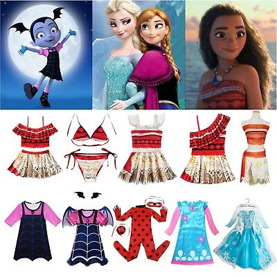 Kids Girls Cosplay Costumes Dress Princess Characters Fance Dress Up Clothes Lot