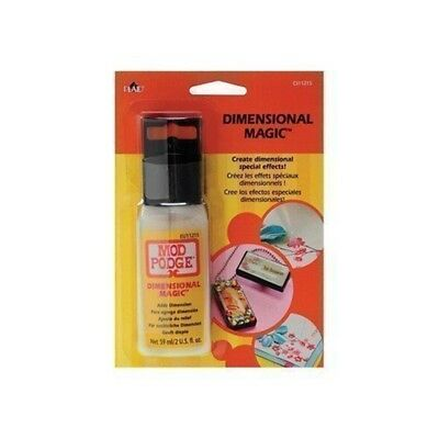 Mod Podge 3d Dimensional Magic 2oz Bottle Glossy Create Beads Embellishments