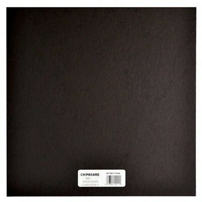 Grafix Grafix 12 x 12-inch Medium Weight Chipboard Sheets, Pack Of 25, Black -