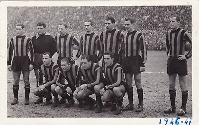 Calcio/Football Cartolina sq. INTER 1946-'47 originale