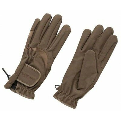 Harry Hall Matchmakers Domy Suede Gloves - Brown, Medium - Riding Horse Colours