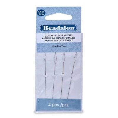 Beadalon Collapsible Eye Needles 2.5-inch Fine 4 Pack - 25 6cmpc