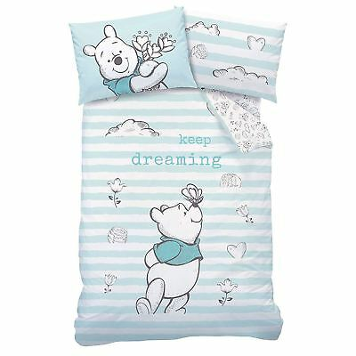 Winnie The Pooh Butterfly Single Duvet Cover Set Reversible Kids Bedding
